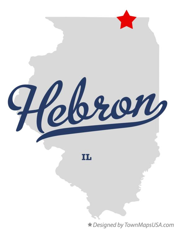 Map of Hebron Illinois IL