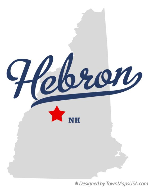 Map of Hebron New Hampshire NH