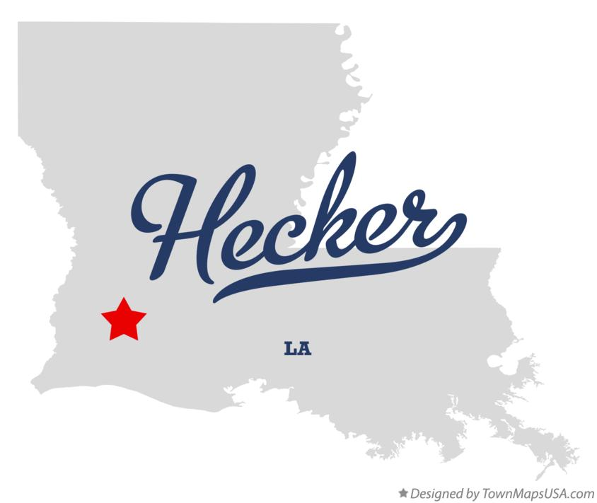 Map of Hecker Louisiana LA