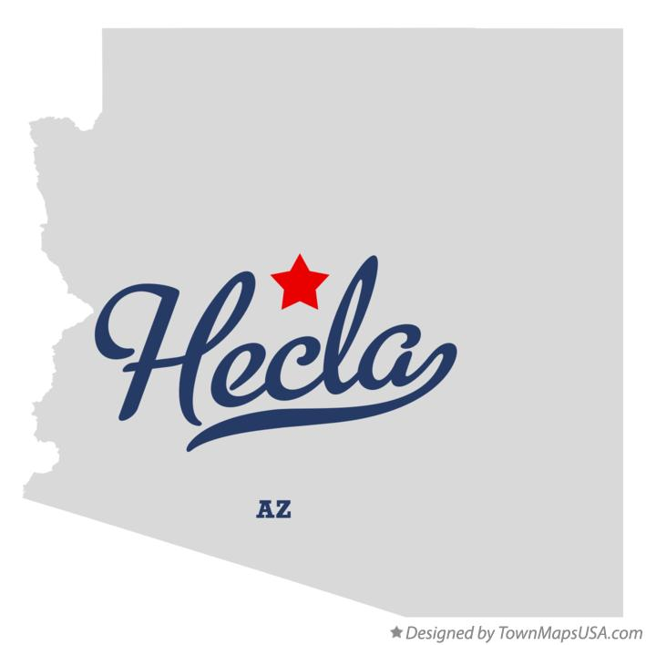 Map of Hecla Arizona AZ
