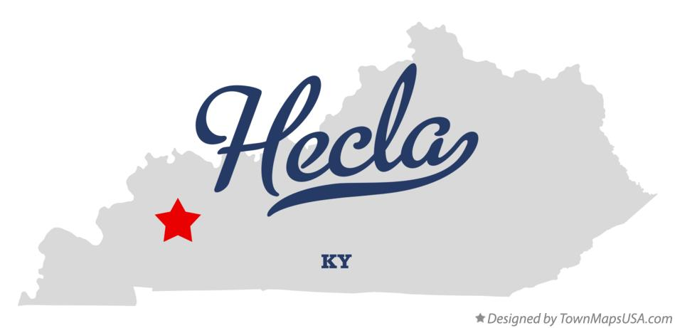 Map of Hecla Kentucky KY