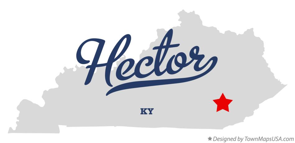Map of Hector Kentucky KY