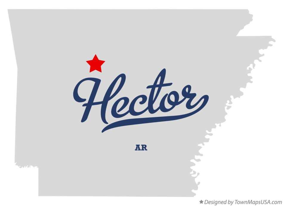 Map of Hector Arkansas AR