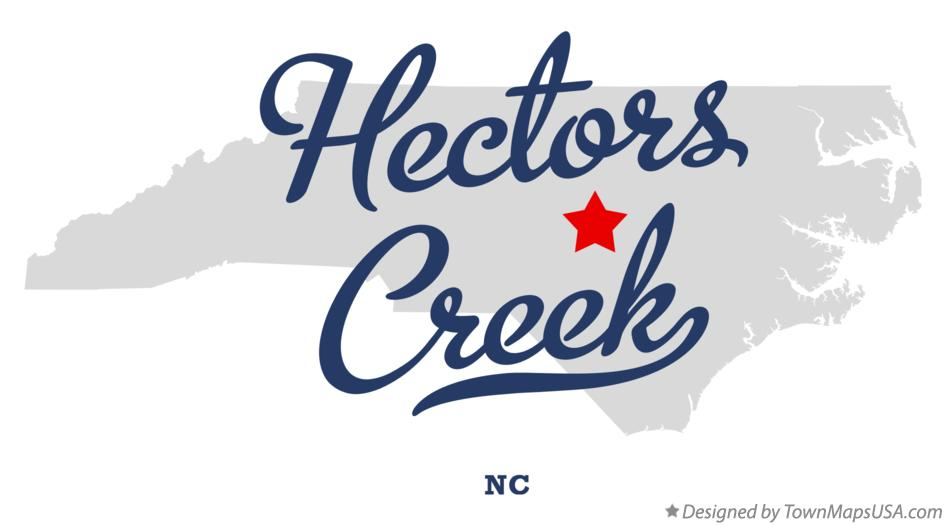 Map of Hectors Creek North Carolina NC