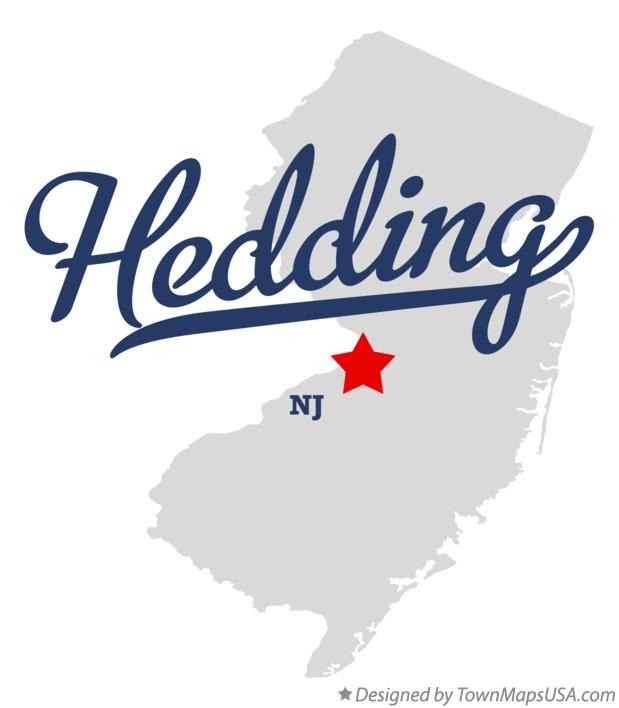 Map of Hedding New Jersey NJ