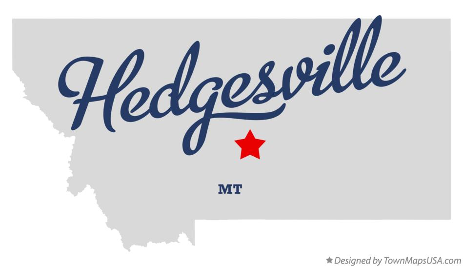 Map of Hedgesville Montana MT