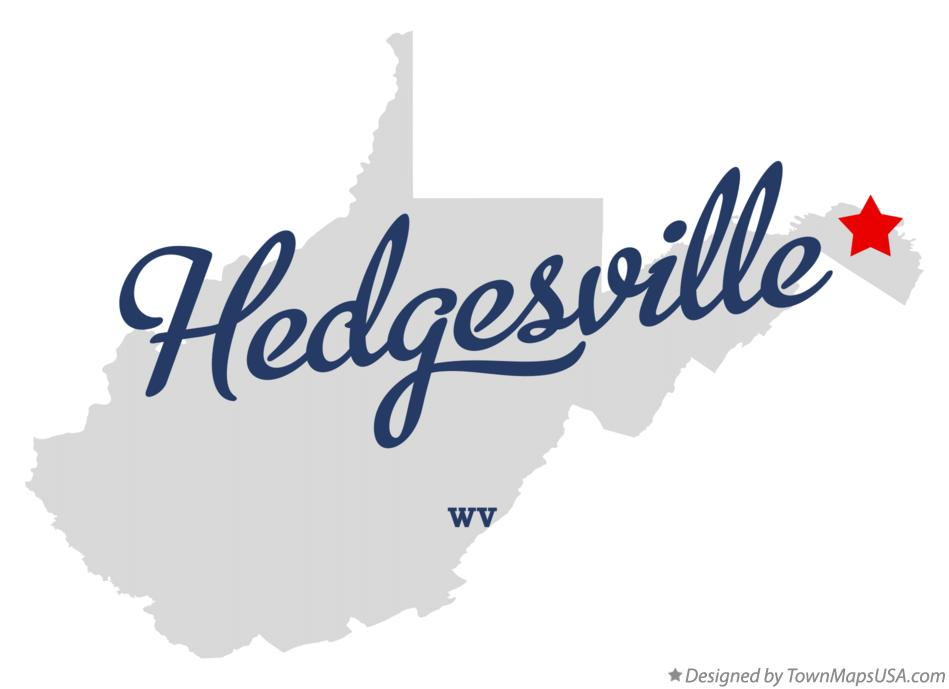 Map of Hedgesville West Virginia WV