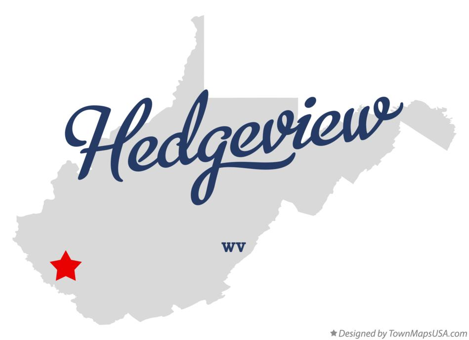 Map of Hedgeview West Virginia WV