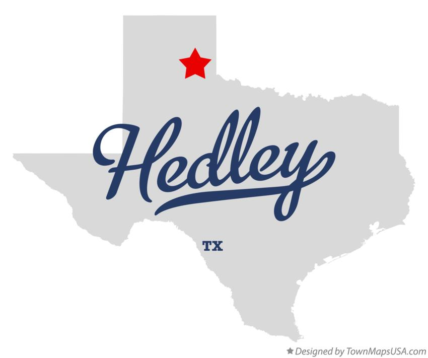 Map of Hedley Texas TX