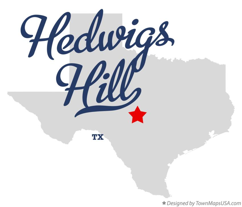 Map of Hedwigs Hill Texas TX