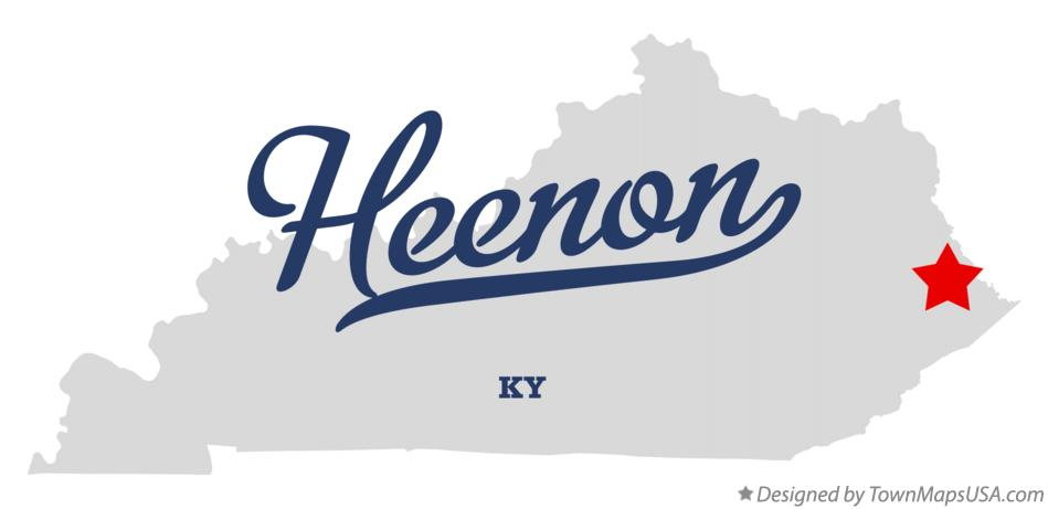 Map of Heenon Kentucky KY