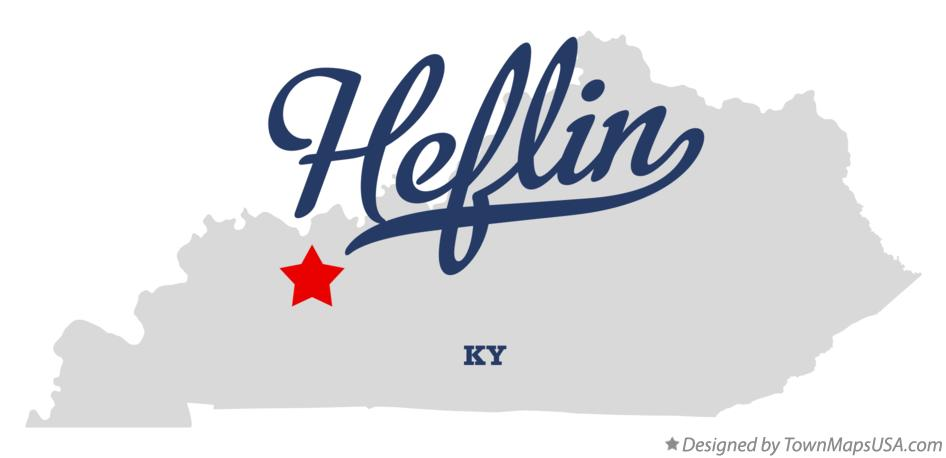 Map of Heflin Kentucky KY
