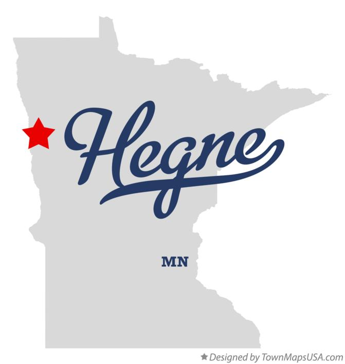 Map of Hegne Minnesota MN