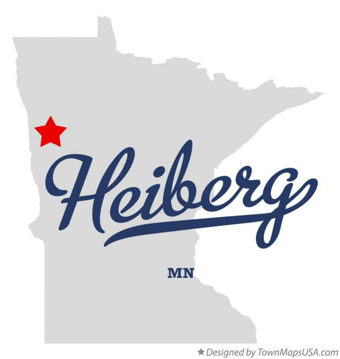 Map of Heiberg Minnesota MN
