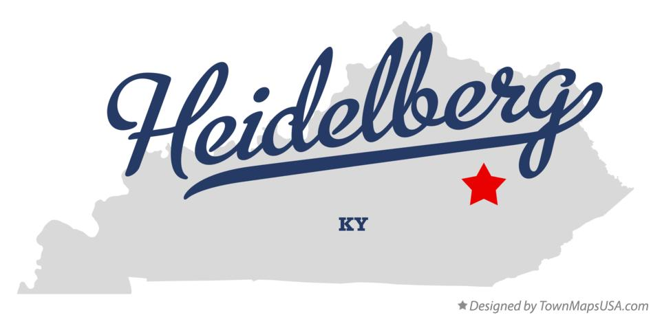 Map of Heidelberg Kentucky KY