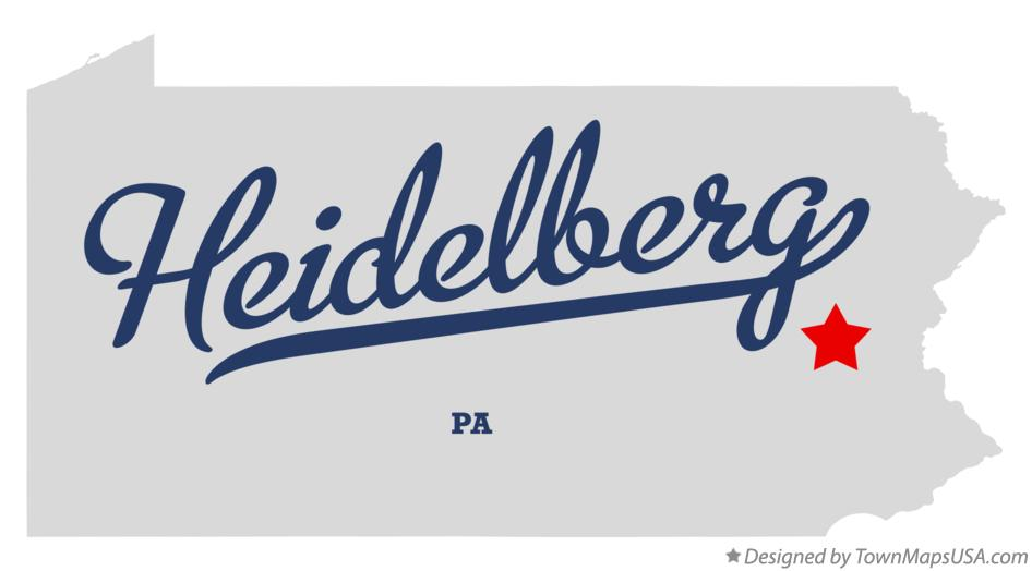 Map of Heidelberg Pennsylvania PA