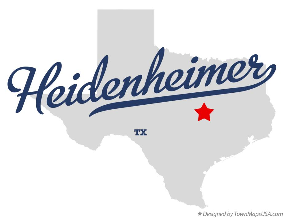 Map of Heidenheimer Texas TX