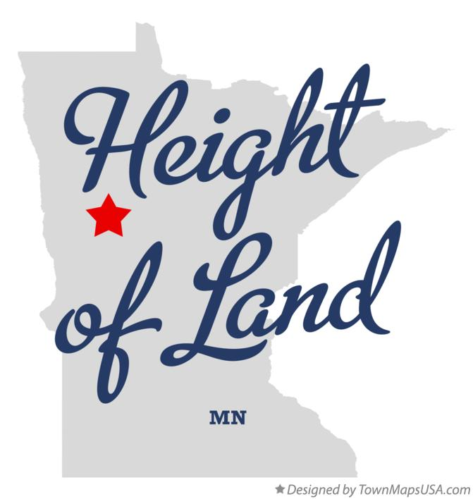 Map of Height of Land Minnesota MN