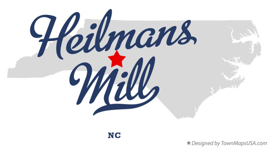 Map of Heilmans Mill North Carolina NC