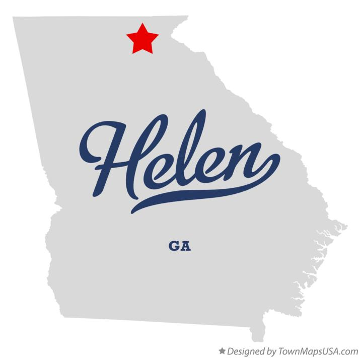 Map Of Georgia Helen.Map Of Helen Ga Georgia