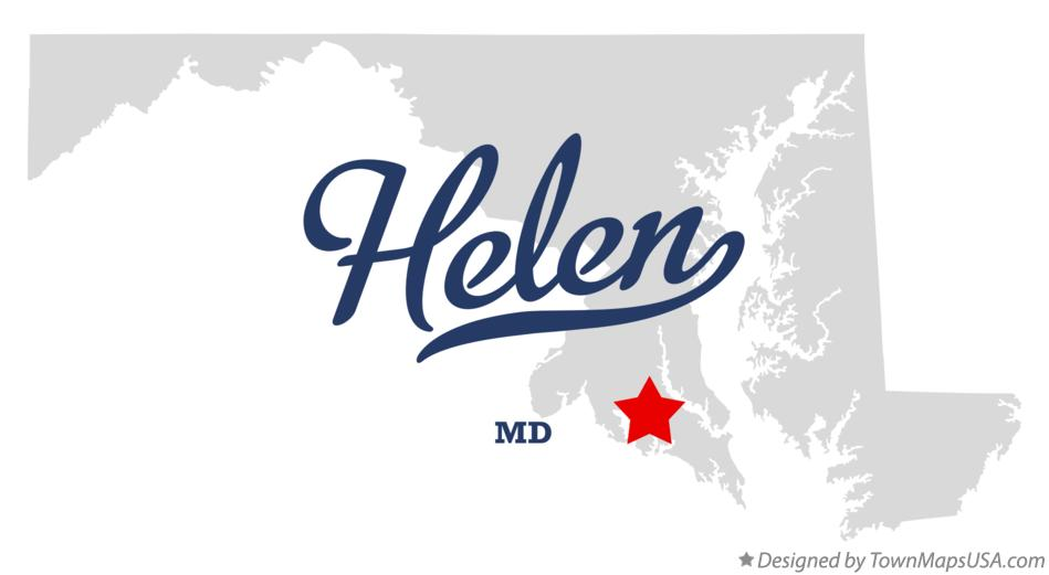 Map of Helen Maryland MD