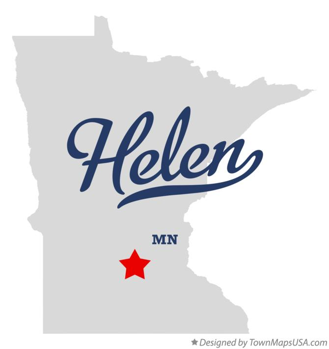 Map of Helen Minnesota MN