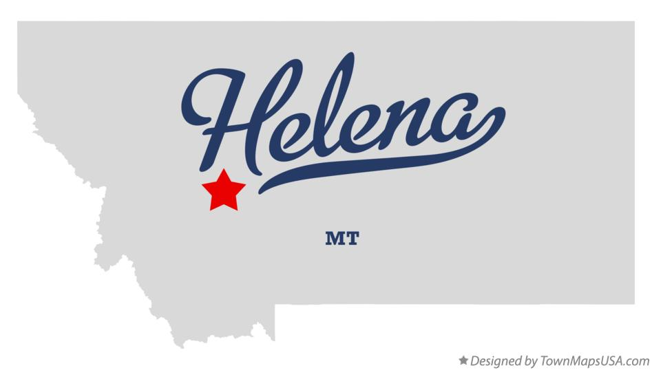Map of Helena MT Montana