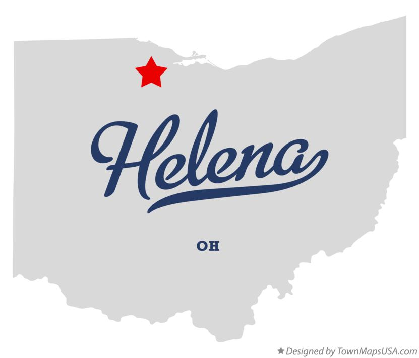 Map of Helena Ohio OH