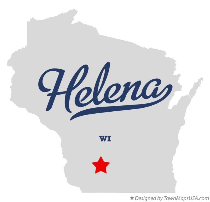 Map of Helena Wisconsin WI