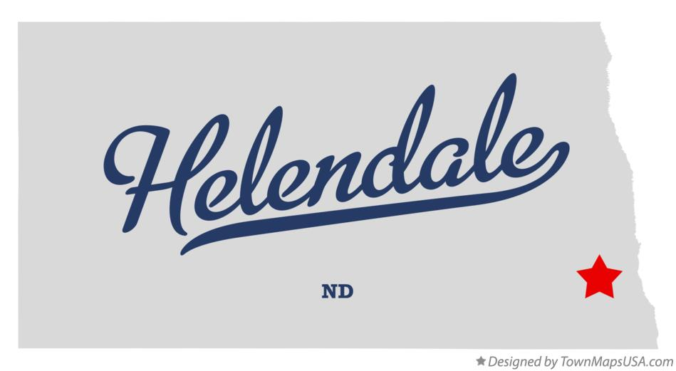 Map of Helendale North Dakota ND