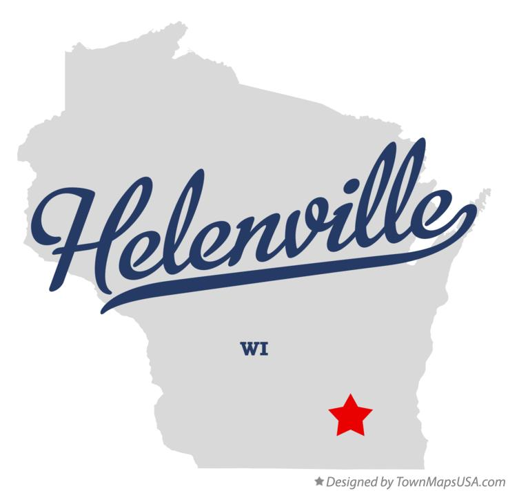 Map of Helenville Wisconsin WI