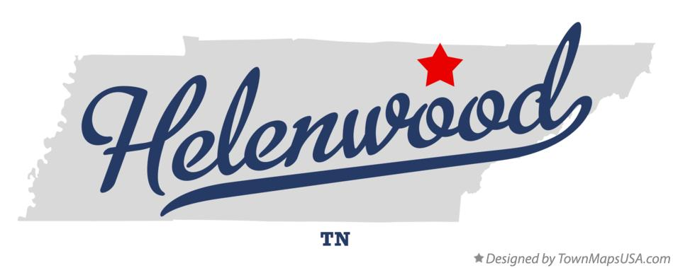 Map of Helenwood Tennessee TN