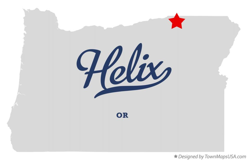 Map of Helix Oregon OR