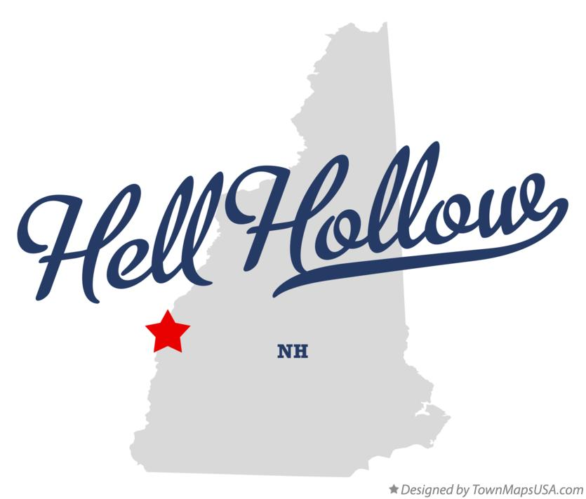 Map of Hell Hollow New Hampshire NH
