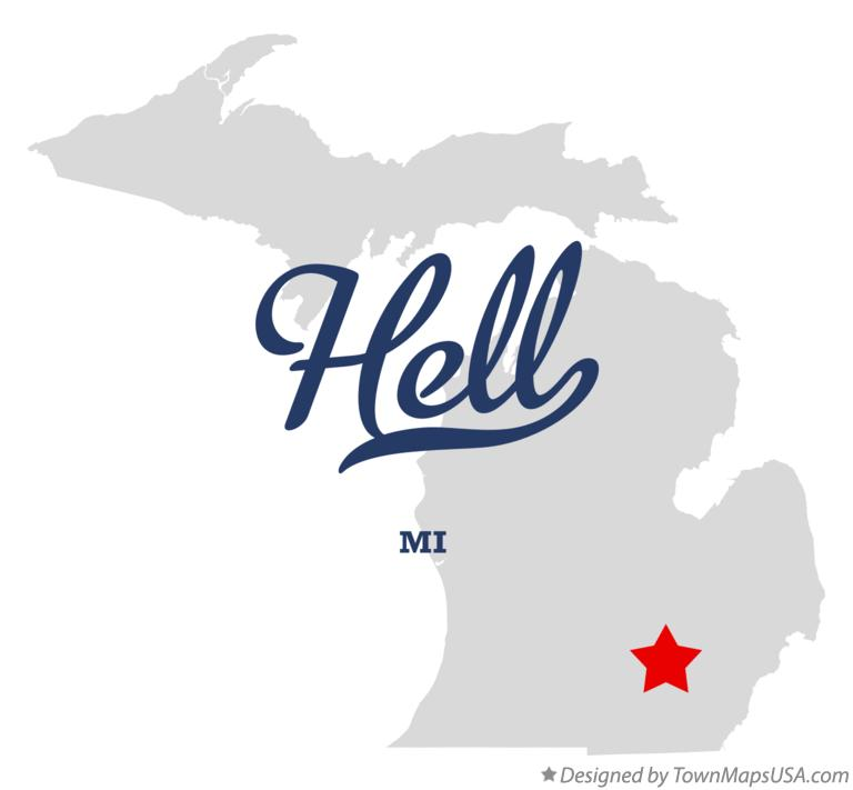 Map of Hell Michigan MI