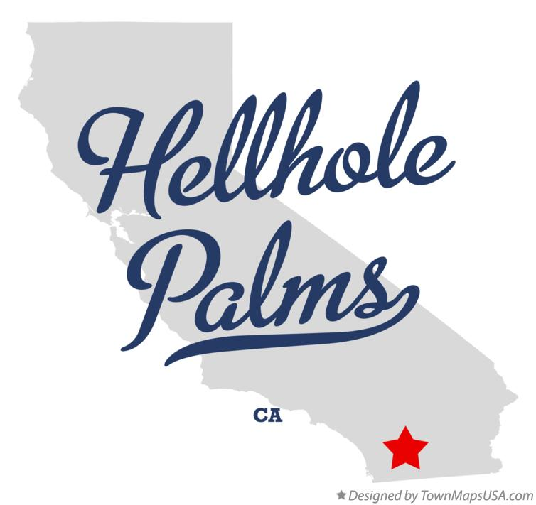 Map of Hellhole Palms California CA