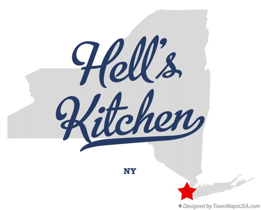 Map of Hell's Kitchen New York NY