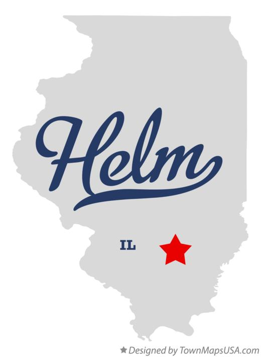 Map of Helm Illinois IL