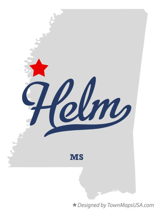 Map of Helm Mississippi MS