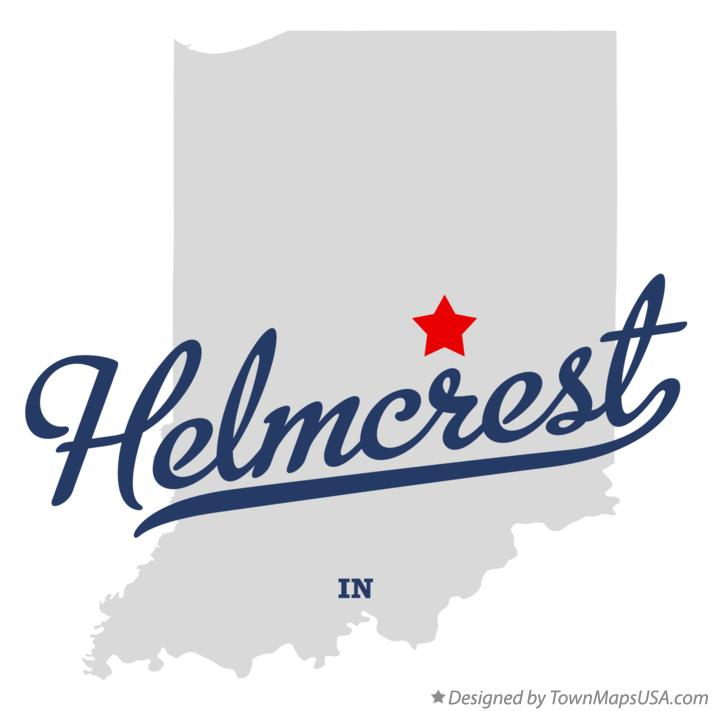 Map of Helmcrest Indiana IN