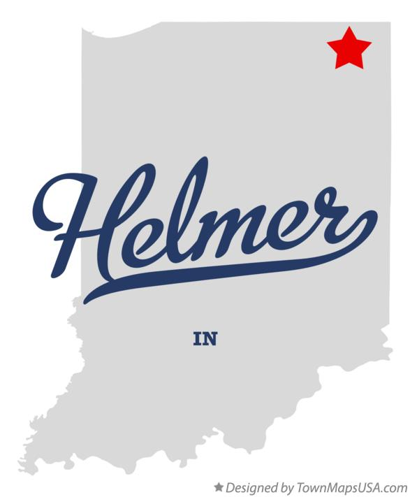 Map of Helmer Indiana IN