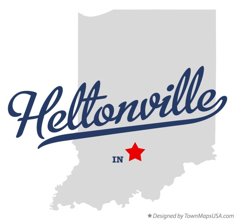 Map of Heltonville Indiana IN