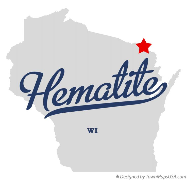 Map of Hematite Wisconsin WI