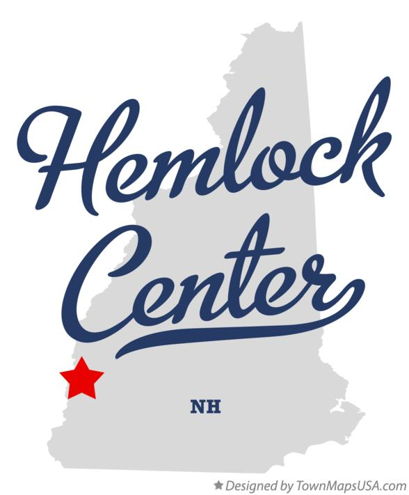 Map of Hemlock Center New Hampshire NH