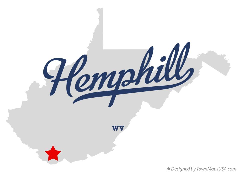 Map of Hemphill West Virginia WV