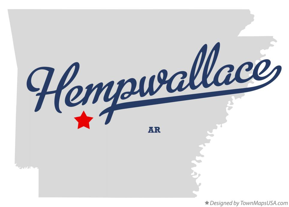 Map of Hempwallace Arkansas AR