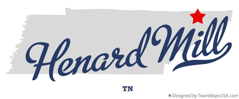 Map of Henard Mill Tennessee TN