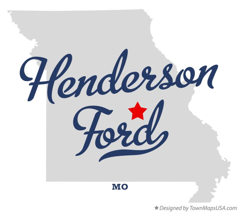 Map of Henderson Ford Missouri MO