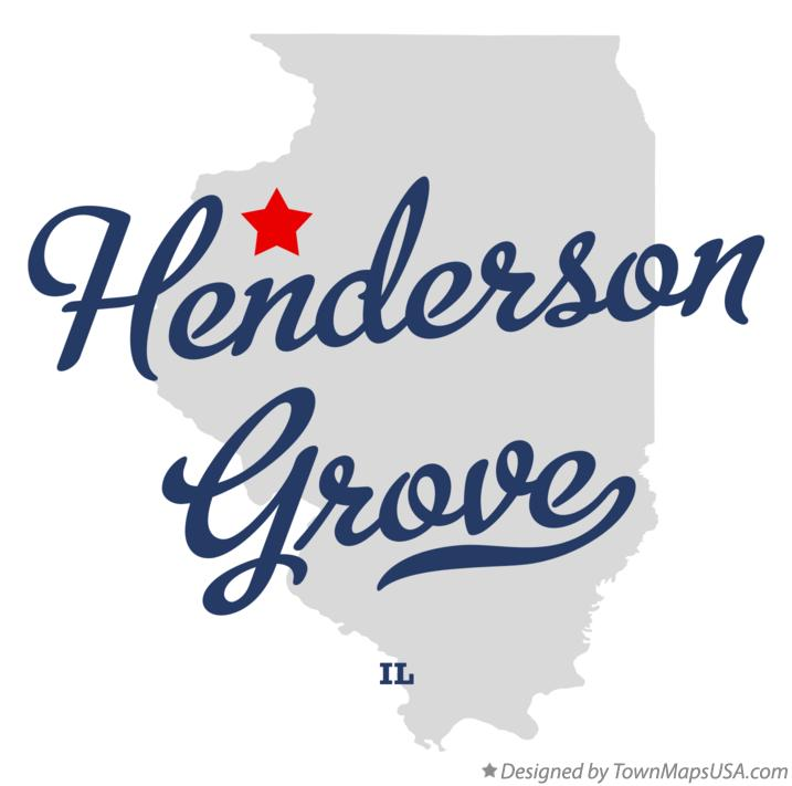 Map of Henderson Grove Illinois IL