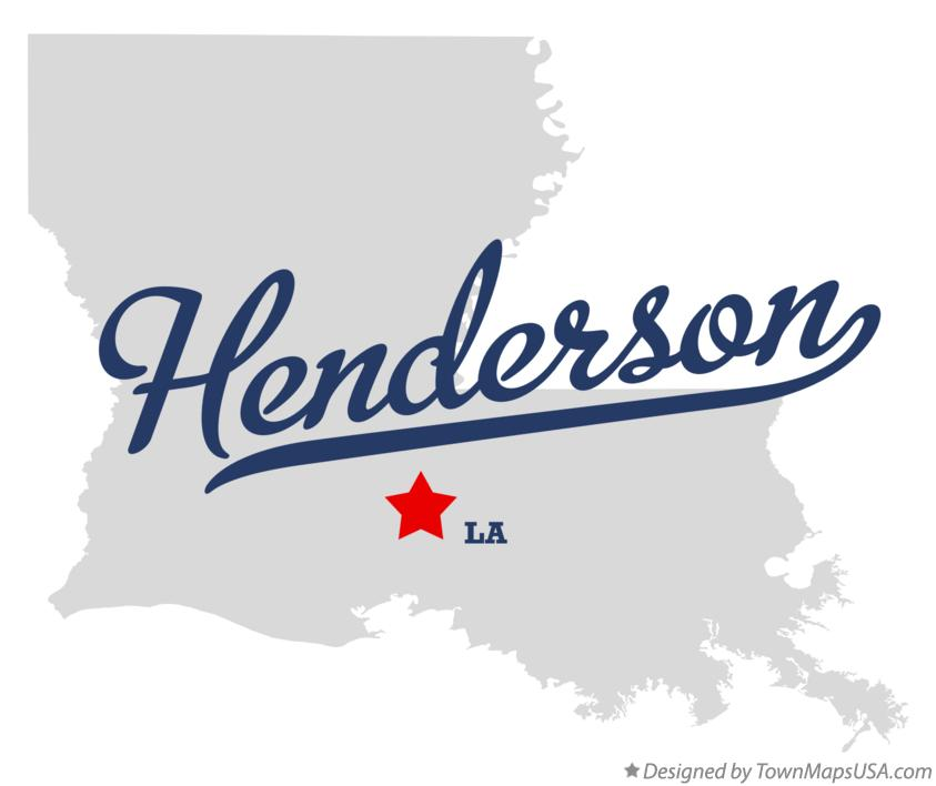 Map of Henderson Louisiana LA